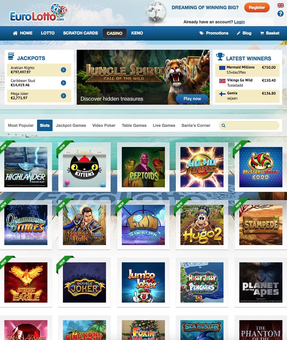 eurolotto casino screenshot