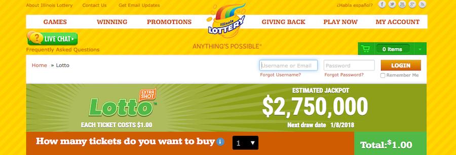 illinois lottery website